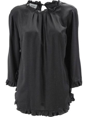 Dondup Black Blend Silk Top.
