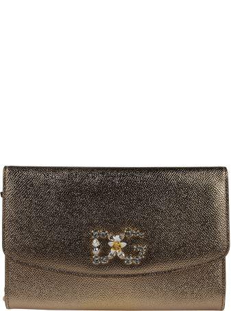 Dolce & Gabbana Embellished Dg Shoulder Bag