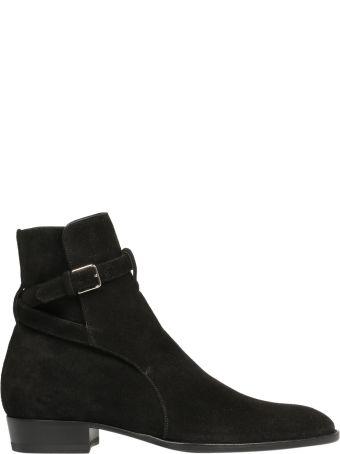 Saint Laurent Signature Wyatt Jodphur Ankle Boots