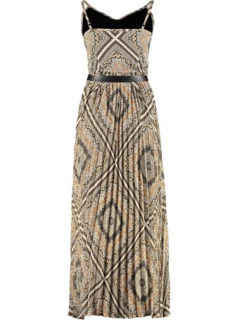 MICHAEL Michael Kors Printed Crepe Long Dress