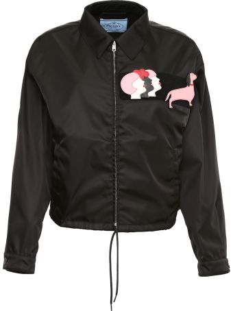 Prada Linea Rossa Nylon Gabardine Jacket With Patches