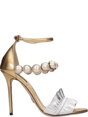 Paula Cademartori Gold Silver Leather Febe Night Sandalsr