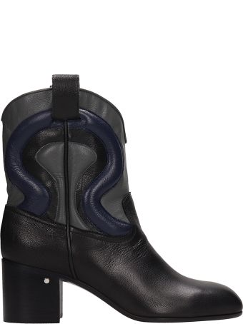 Laurence Dacade Tiago Black Leather Ankle Boots