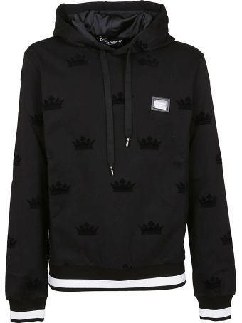 Dolce & Gabbana Embroidered Crown Hoodie