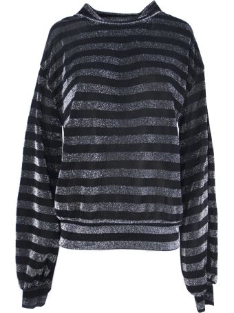 RTA Silver-toned And Black Fabric Pullover