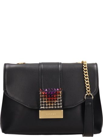 Visone Black Leather Alice Bag