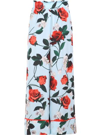 Alice + Olivia Floral Print Trousers