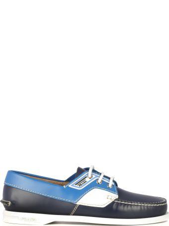 Prada Logo Boat Shoes