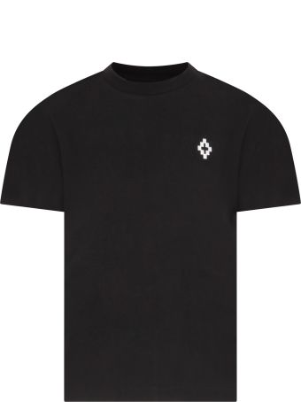 Marcelo Burlon Black T-shirt For Boy With White Cross