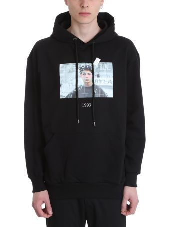 Throw Back Cristiano Black Cotton Hoodie