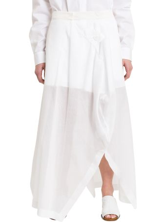 Jil Sander Gispsy Asymmetric Long Skirt