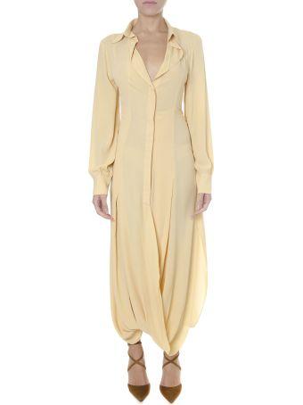 Jacquemus Yellow Long Nylon Dress