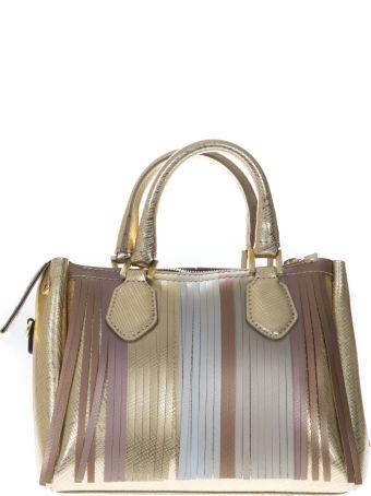 Gianni Chiarini Gold Gum Bag With Multicolor Fringe