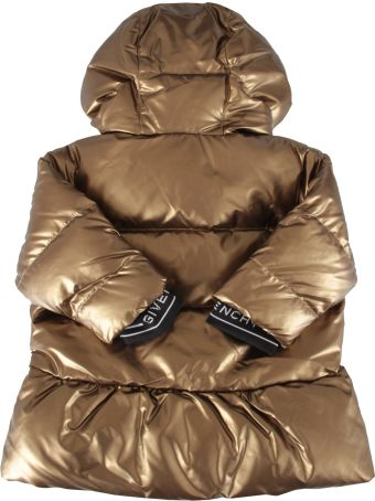 Givenchy Bronze Jacket For Baby Girl With Logo