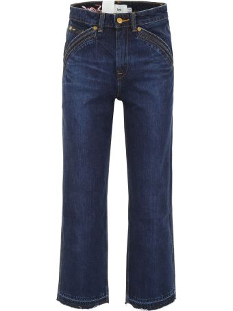 self-portrait Lee Cropped Jeans