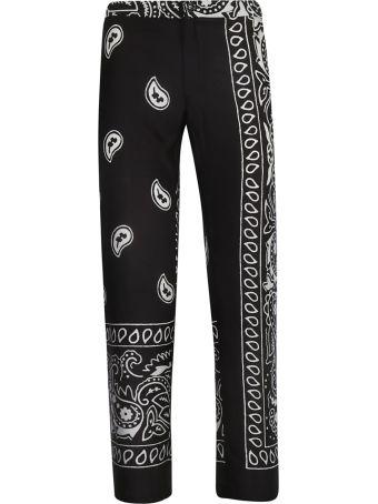 Black Coral Bandana Trousers