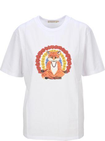 Maison Kitsuné Maison Kitsune Flower Fox Print T-shirt