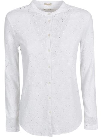 Massimo Alba Round Collar Perforated Shirt