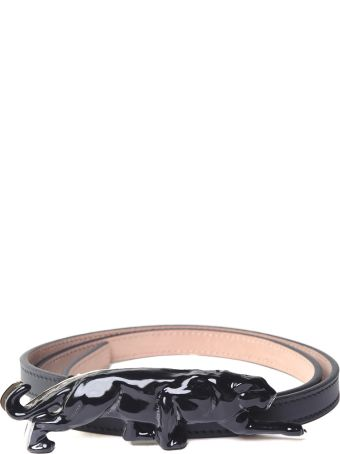 Krizia Panther Leather Belt