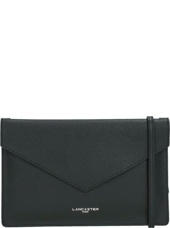 Lancaster Paris Element Black Saffiano Leather Pochette