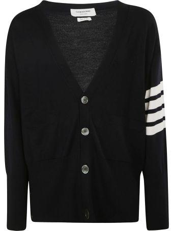 Thom Browne Oversized V-neck Cardigan