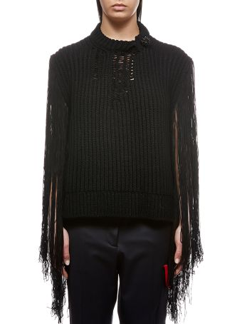 Calvin Klein Knitted Fringed Sweater