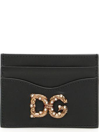 Dolce & Gabbana Dg Amore Leather Cardholder