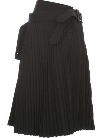 Junya Watanabe Comme Des Garçons Wool Plisse Skirt