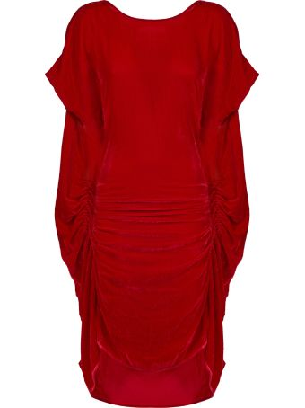 Paula Knorr Ruched Midi Dress