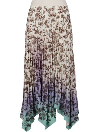 SSHEENA Multicolor Pleated Skirt