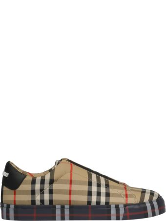 Burberry Checked Print Sneakers