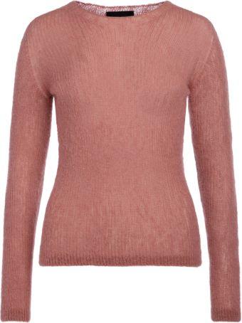 Roberto Collina Pink Wool Jumper