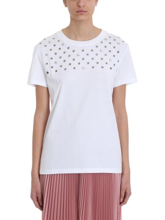 RED Valentino White Cotton T-shirt