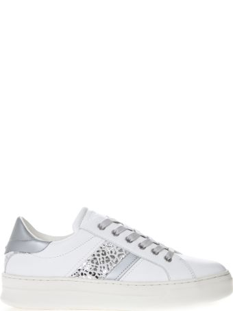 Crime london Sonik White Leather Low-top Sneakers