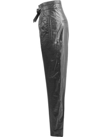 Isabel Marant Black Vegan Leather Trousers