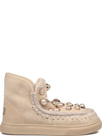 Mou Vanilla Mini Eskimo Pearls Low Boot