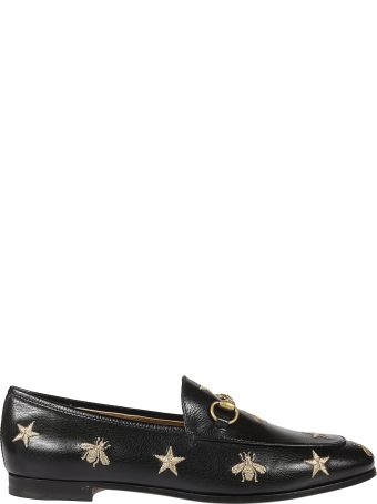 Gucci Jordaan Embroidered Loafers