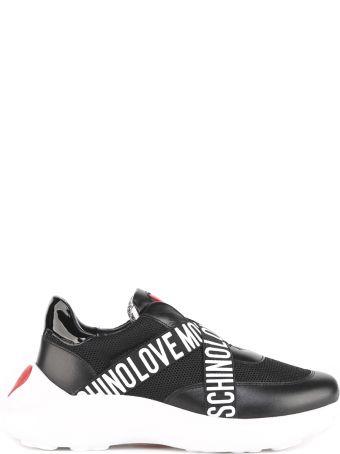 Love Moschino Black Ecoleather Love Moschino Sneaker