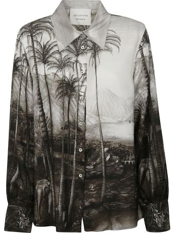 Les Coyotes De Paris Graphic Printed Shirt