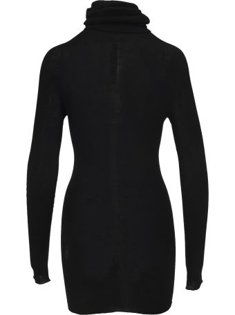 Rick Owens Roll Neck Longline Wool Top
