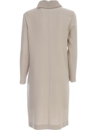 Antonelli Tunic Dress L/s W/zip On Neck