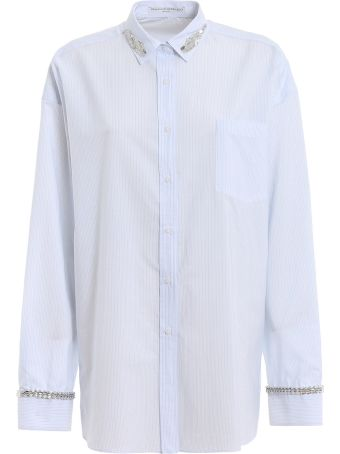 Ermanno Scervino Jeweled Striped Shirt