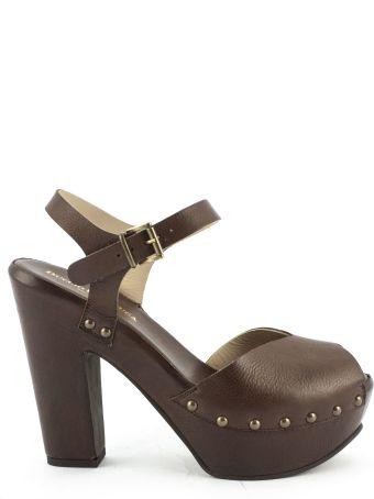 Duccio del Duca Brown Leather Eos Sandals