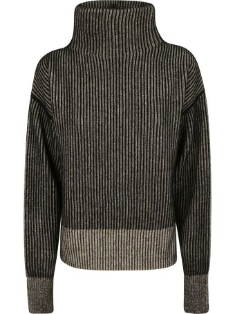 SportMax Turtleneck Ribbed Knit Sweater