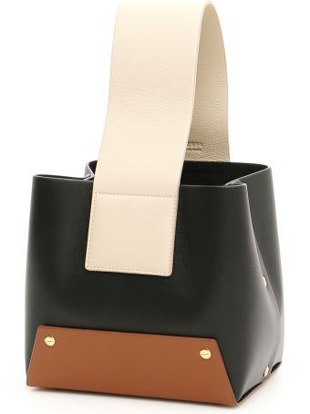 YUZEFI Leather Tab Bag