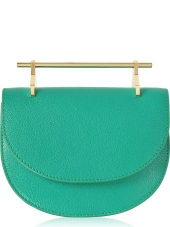 M2Malletier Pure Jade Lux Leather Mini Half Moon Bag