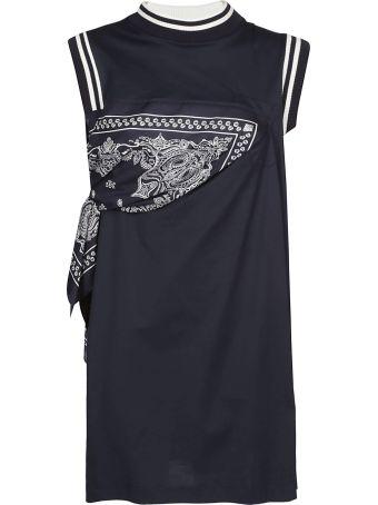 Sacai Bandana Detailed Short Dress