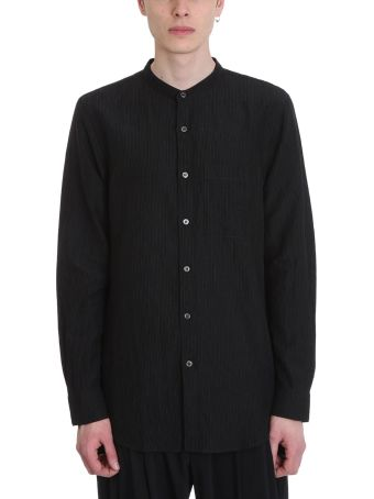 Attachment Black Cotton Shirt