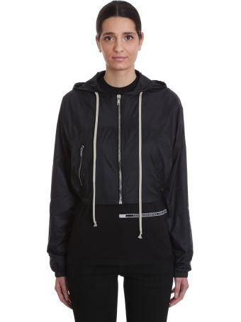 DRKSHDW Mini Windbreake Casual Jacket In Black Polyamide