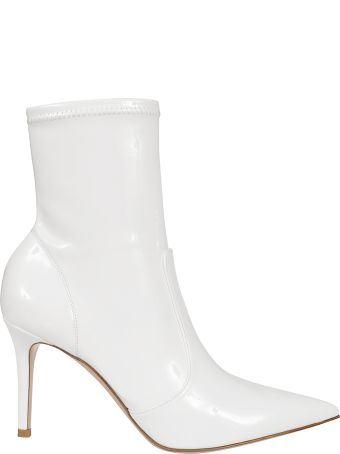 Gianvito Rossi Embossed Logo Ankle Boots